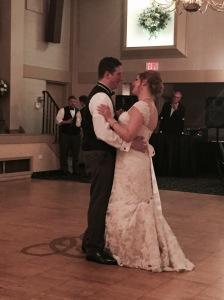 Their first dance.